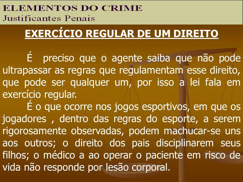 EXERCÍCIO REGULAR DE UM DIREITO