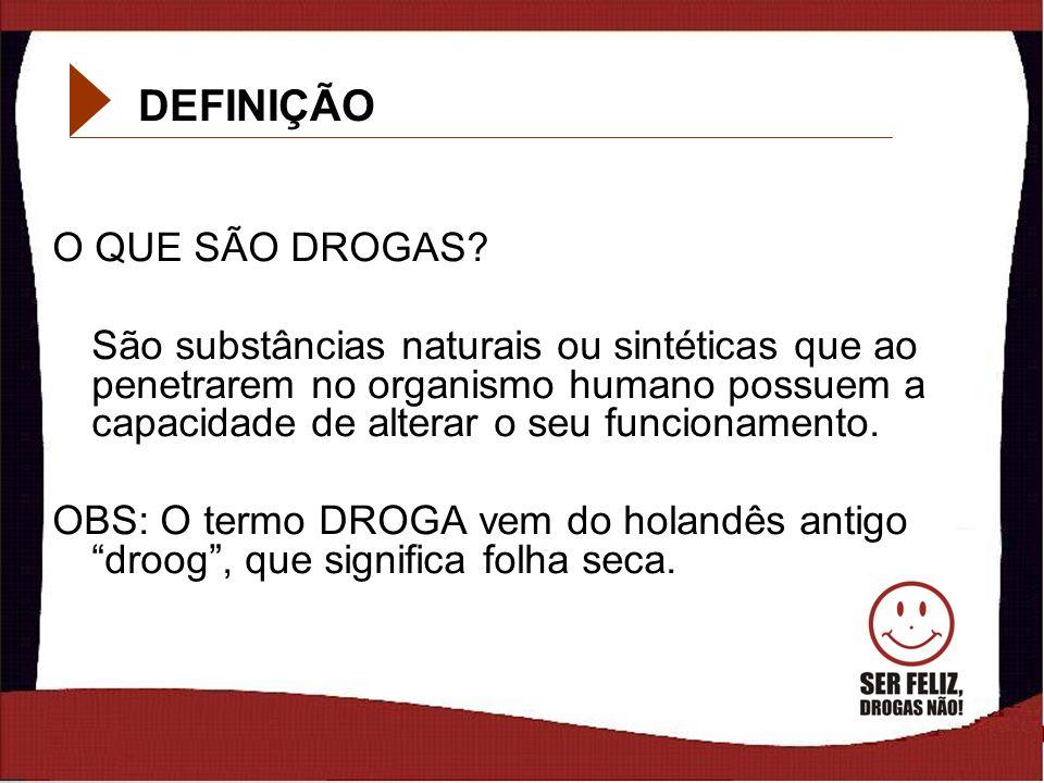 DEFINIÇÃO O QUE SÃO DROGAS