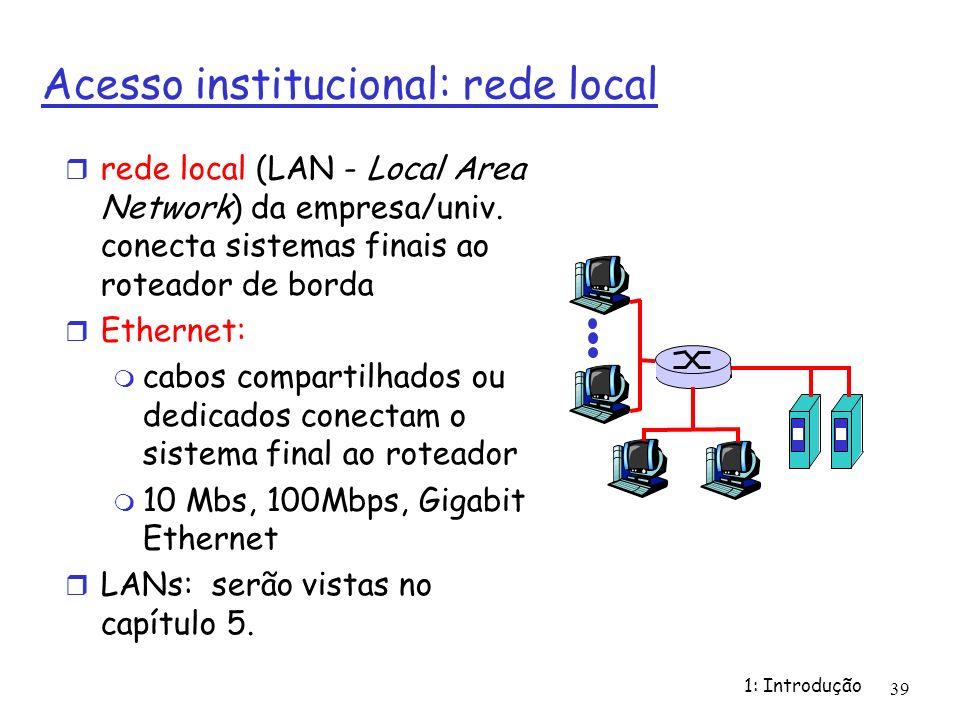 Acesso institucional: rede local