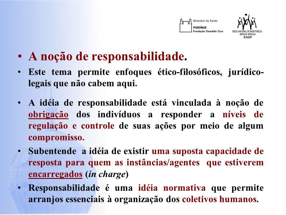 A noção de responsabilidade.
