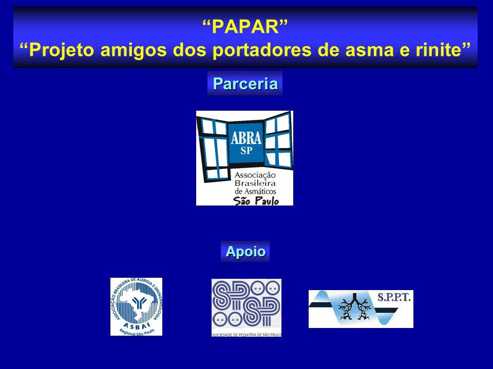 PAPAR Projeto amigos dos portadores de asma e rinite