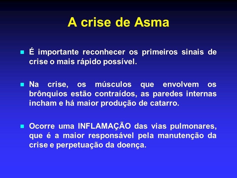A crise de Asma É importante reconhecer os primeiros sinais de crise o mais rápido possível.