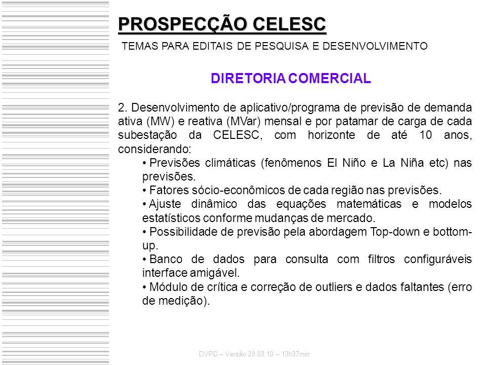 PROSPECÇÃO CELESC DIRETORIA COMERCIAL