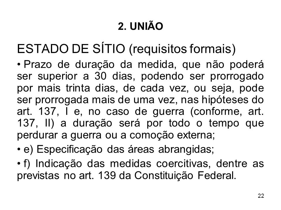ESTADO DE SÍTIO (requisitos formais)