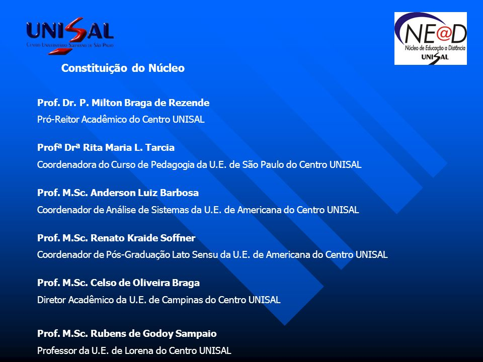 Constituição do Núcleo