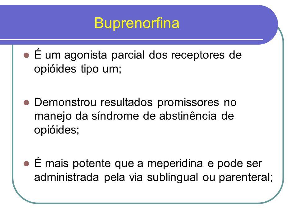 Buprenorfina É um agonista parcial dos receptores de opióides tipo um;
