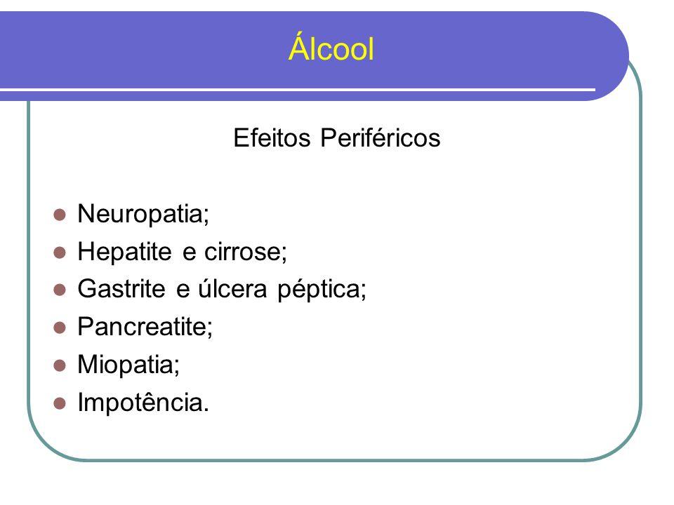 Álcool Efeitos Periféricos Neuropatia; Hepatite e cirrose;
