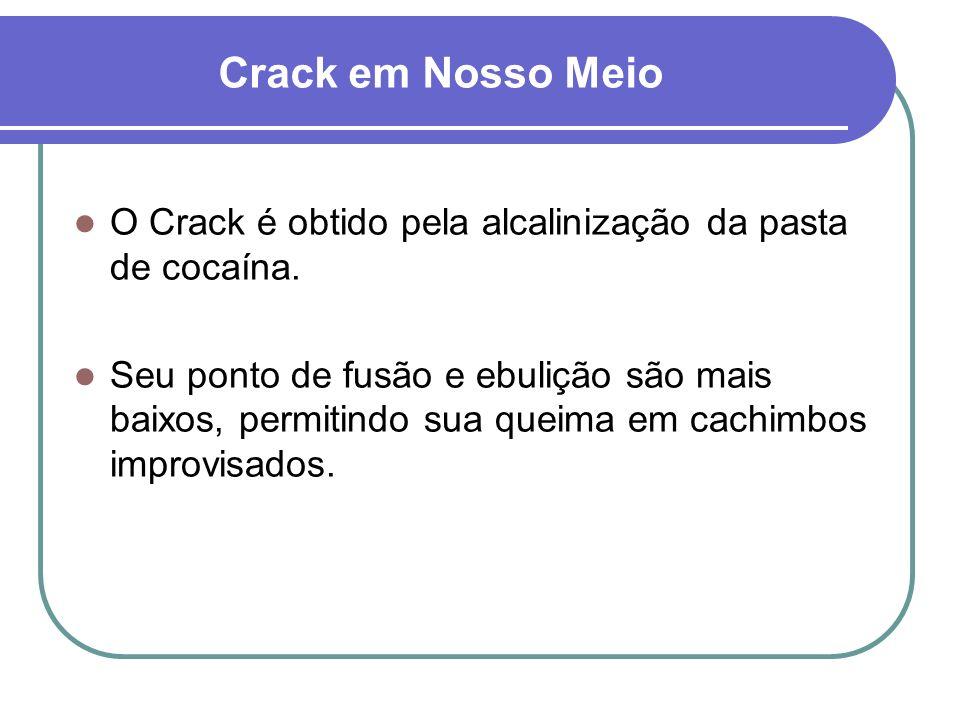 Crack em Nosso MeioO Crack é obtido pela alcalinização da pasta de cocaína.