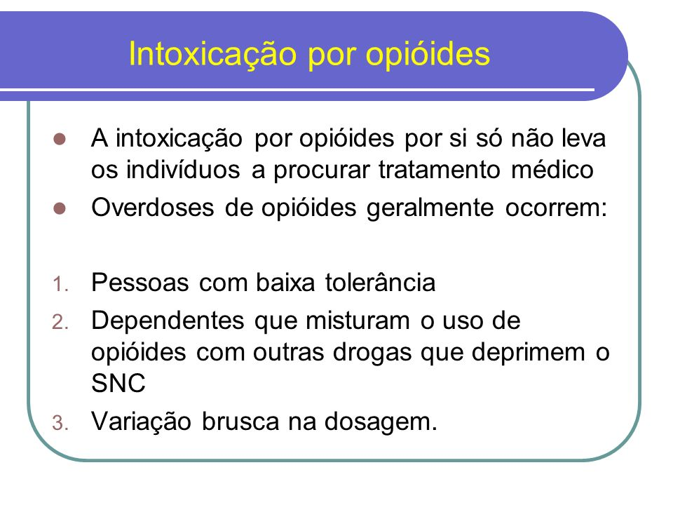 Intoxicação por opióides