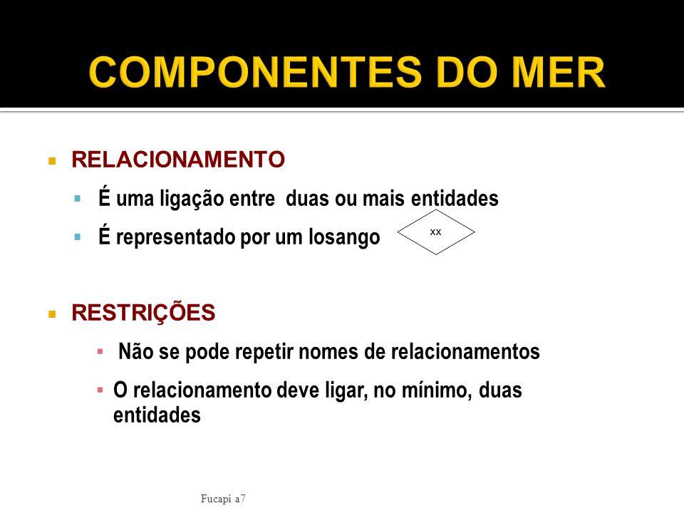 COMPONENTES DO MER RELACIONAMENTO
