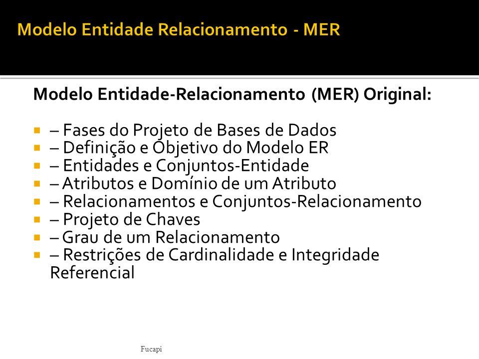 Modelo Entidade Relacionamento - MER