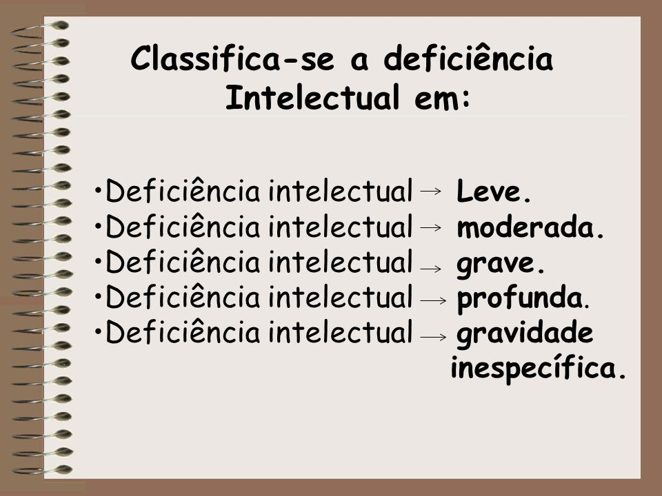 Classifica-se a deficiência