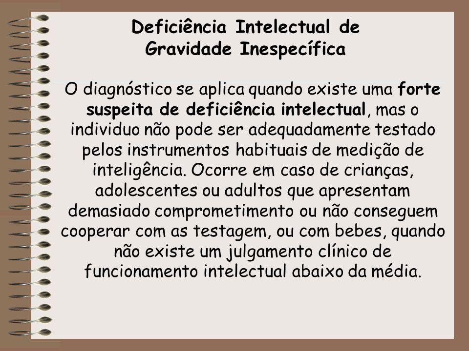Deficiência Intelectual de Gravidade Inespecífica