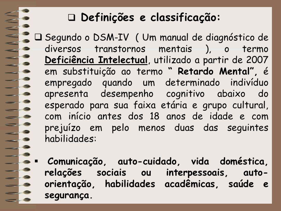 Definições e classificação: