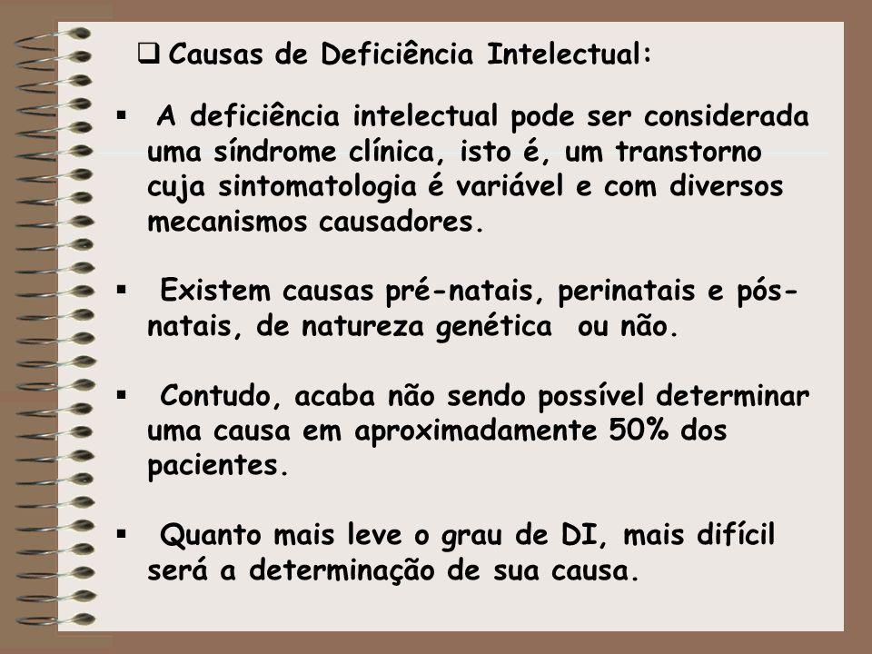 Causas de Deficiência Intelectual: