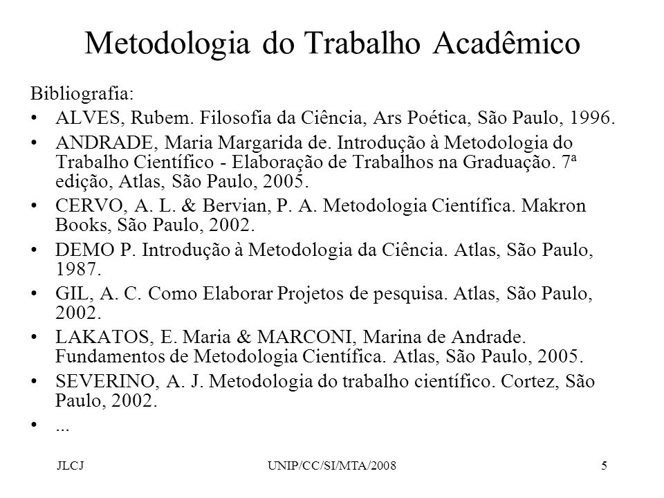 Metodologia de um artigo