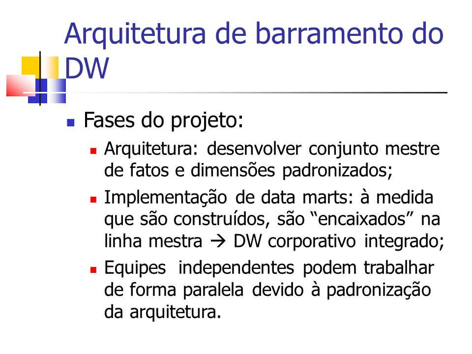Arquitetura de barramento do DW