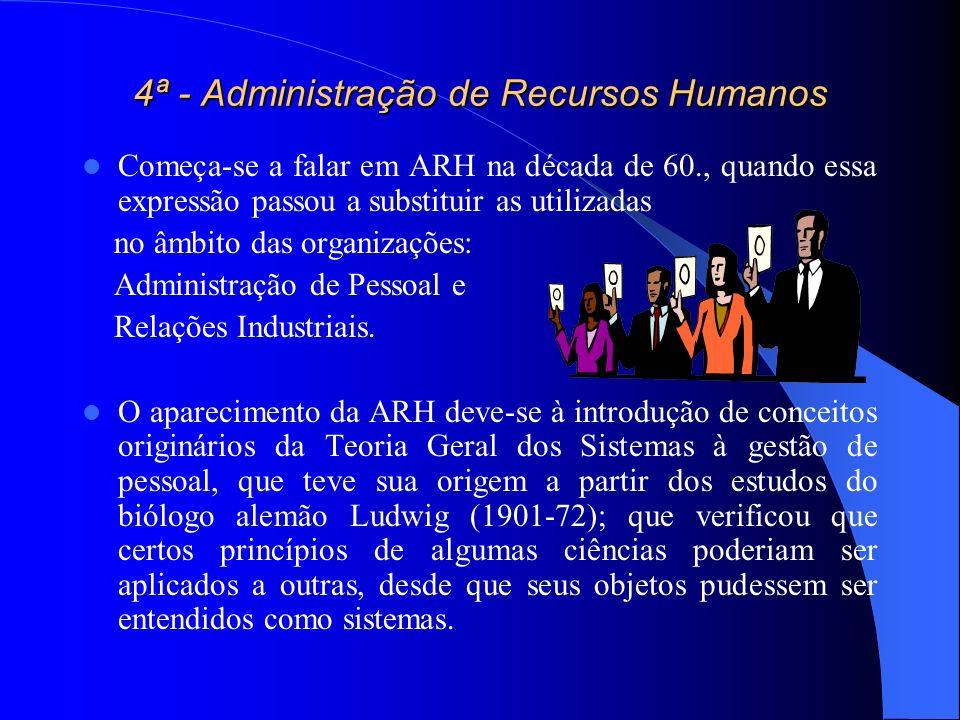 4ª - Administração de Recursos Humanos