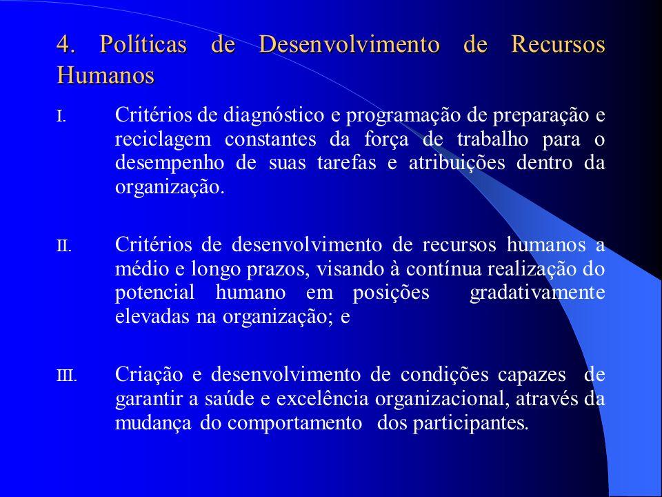 4. Políticas de Desenvolvimento de Recursos Humanos