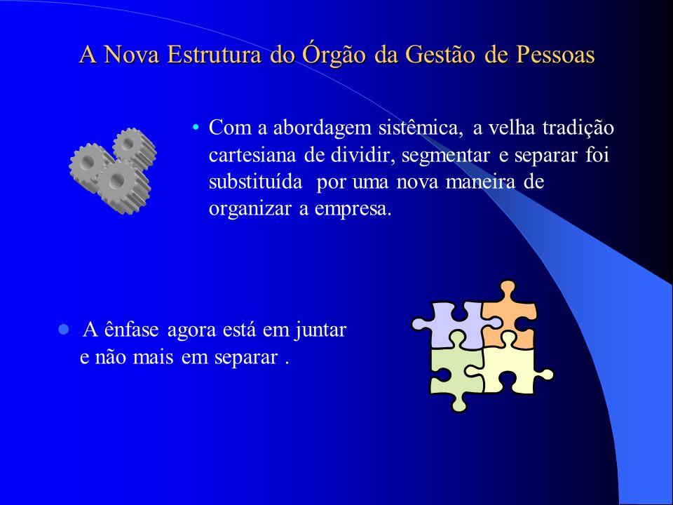 A Nova Estrutura do Órgão da Gestão de Pessoas