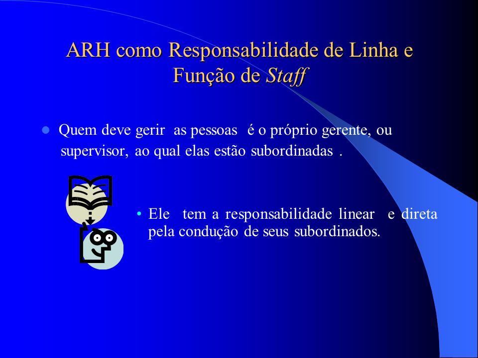 ARH como Responsabilidade de Linha e Função de Staff