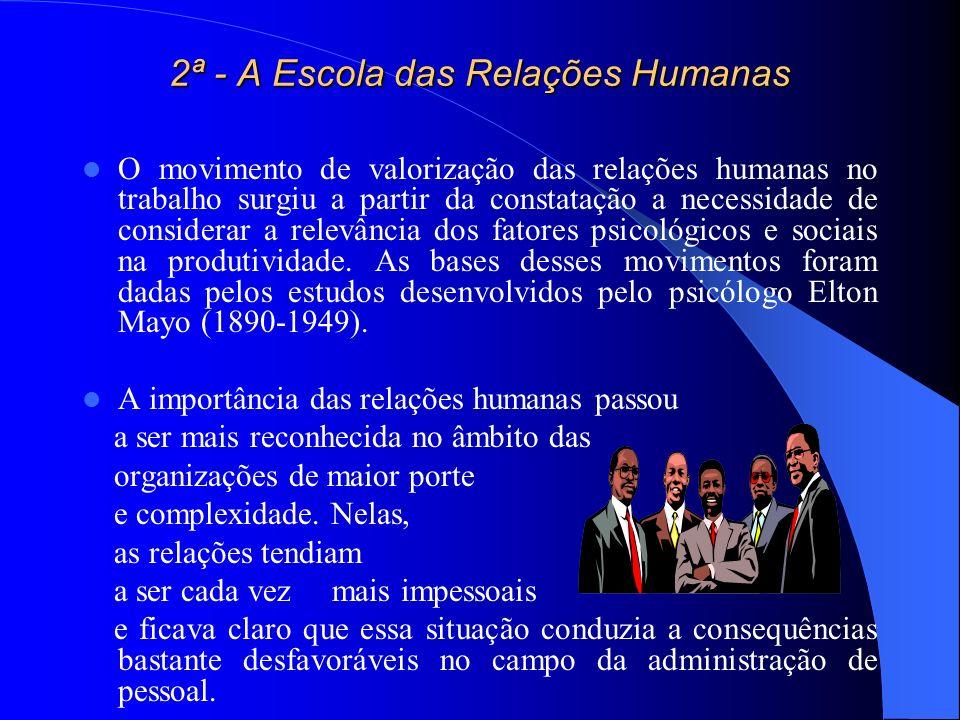 2ª - A Escola das Relações Humanas