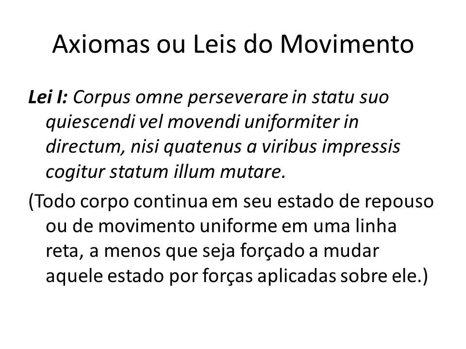 Axiomas ou Leis do Movimento