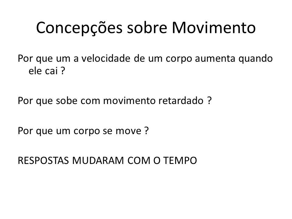 Concepções sobre Movimento