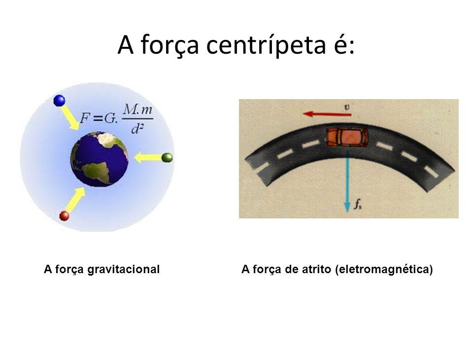 A força centrípeta é: A força gravitacional