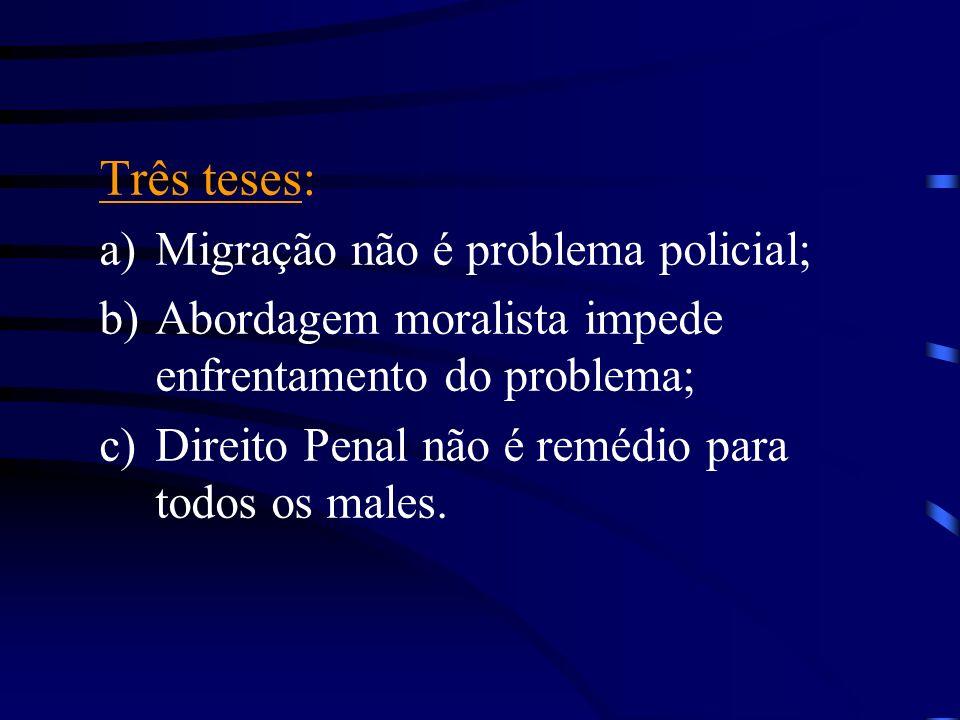 Três teses: Migração não é problema policial;