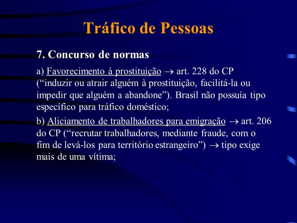 7. Concurso de normas Tráfico de Pessoas