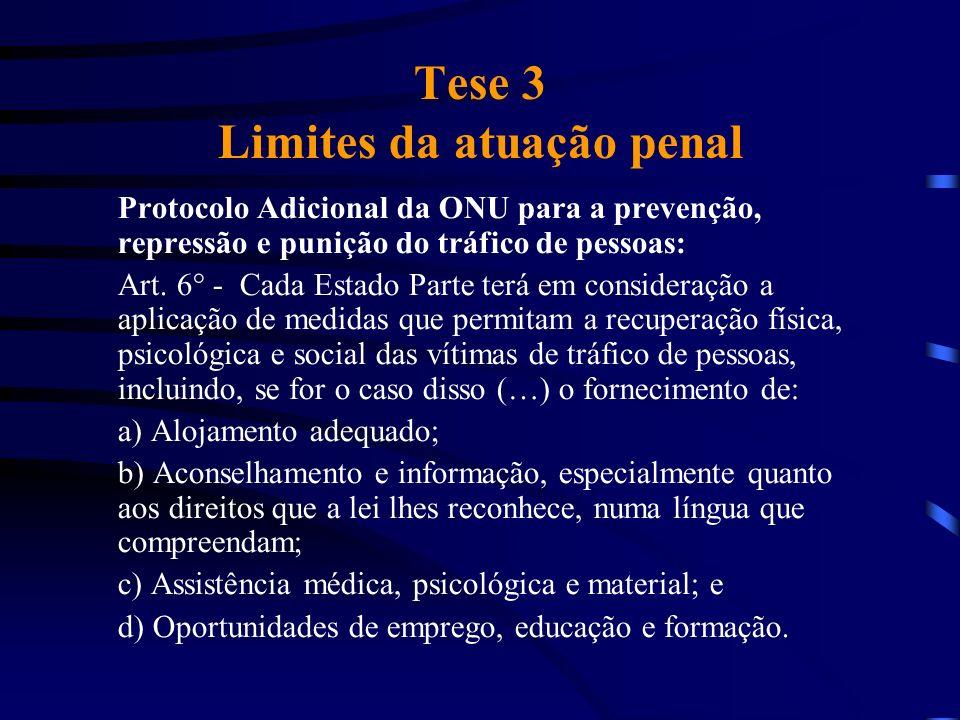 Tese 3 Limites da atuação penal