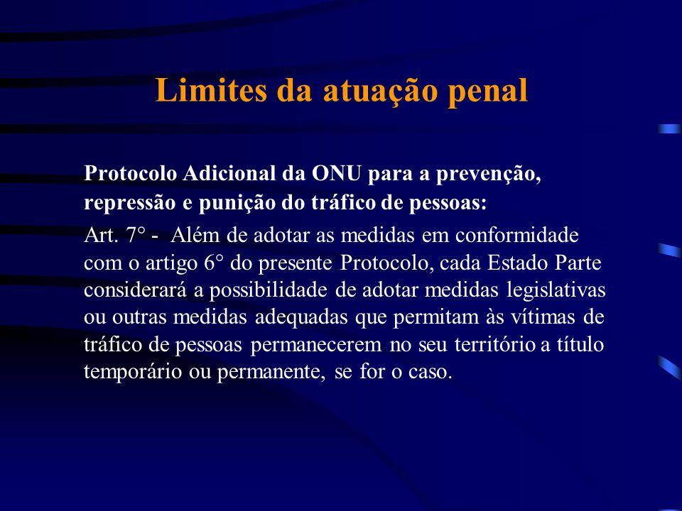 Limites da atuação penal