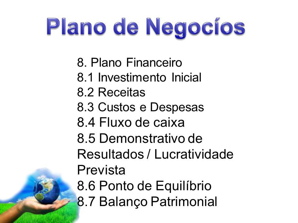 Plano de Negocíos 8.4 Fluxo de caixa