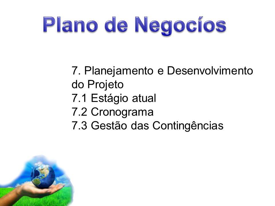 Plano de Negocíos 7. Planejamento e Desenvolvimento do Projeto