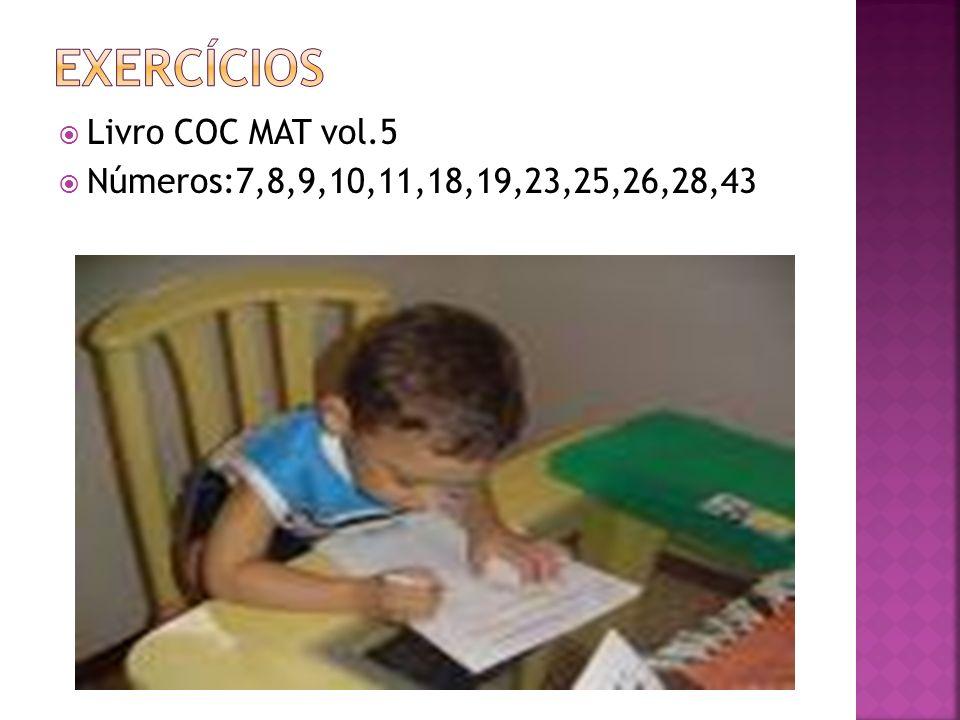 Exercícios Livro COC MAT vol.5