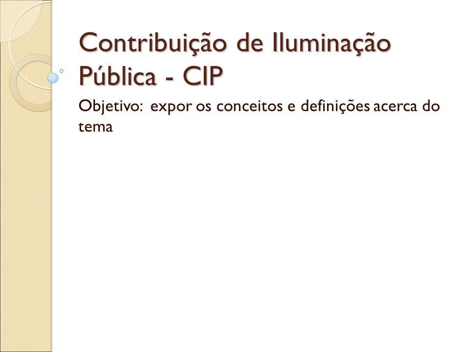 Contribuição de Iluminação Pública - CIP
