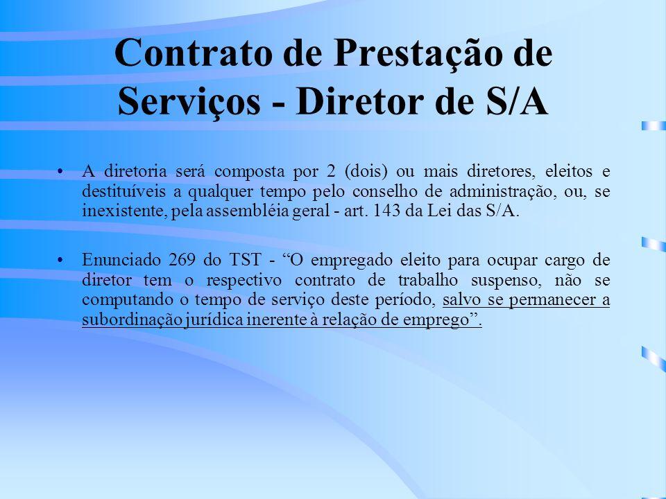 Contrato de Prestação de Serviços - Diretor de S/A