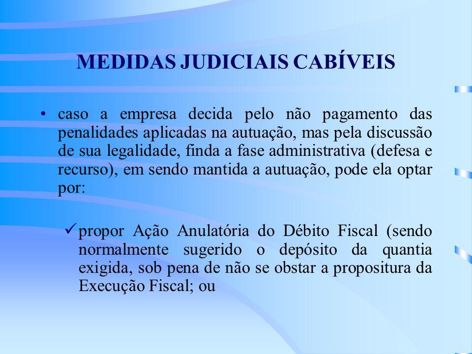MEDIDAS JUDICIAIS CABÍVEIS
