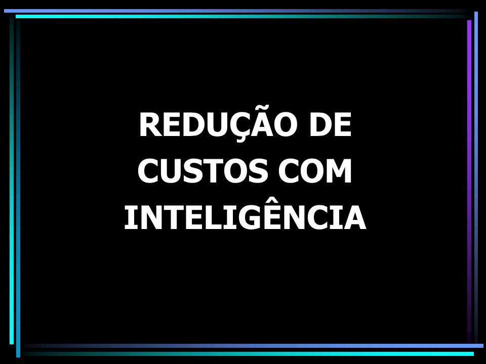 REDUÇÃO DE CUSTOS COM INTELIGÊNCIA