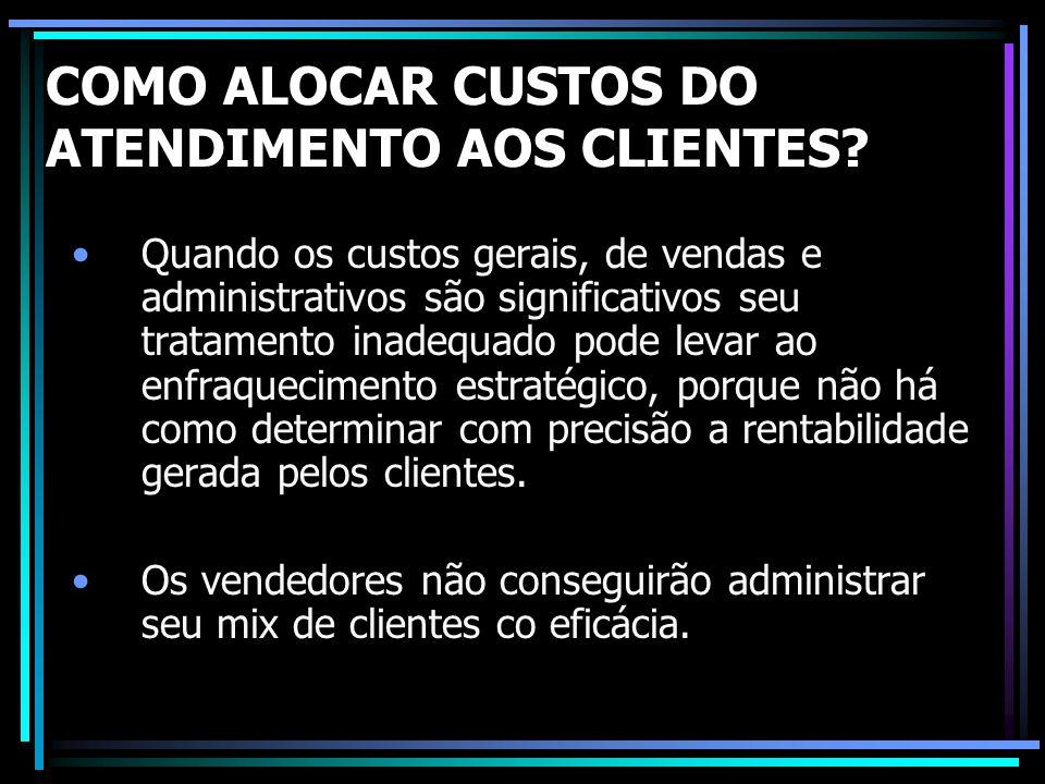 COMO ALOCAR CUSTOS DO ATENDIMENTO AOS CLIENTES