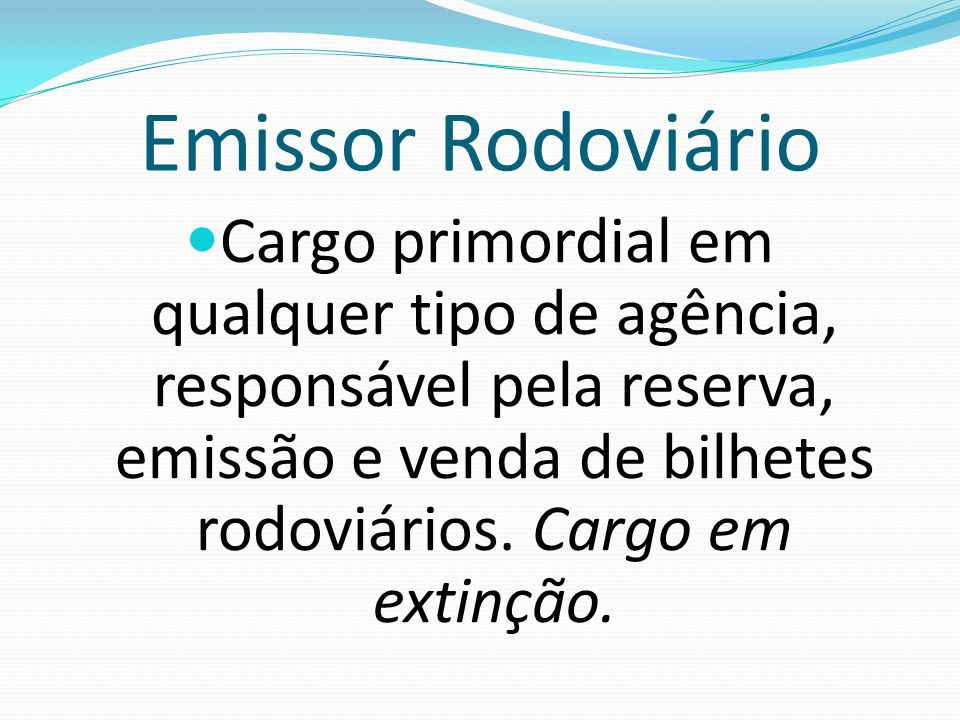 Emissor Rodoviário