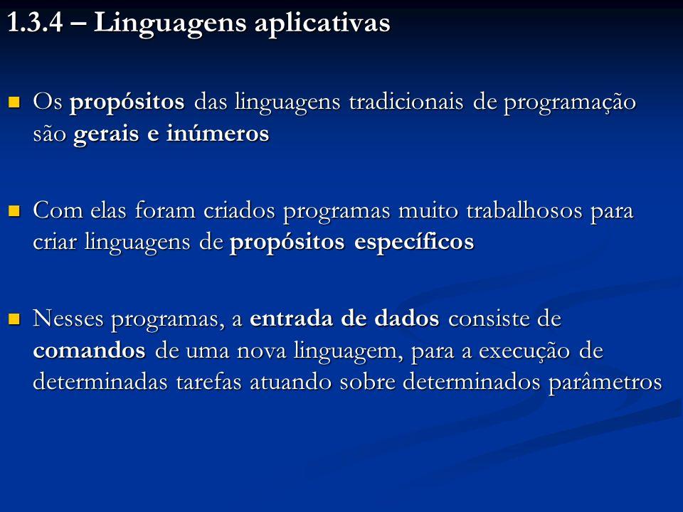 1.3.4 – Linguagens aplicativas
