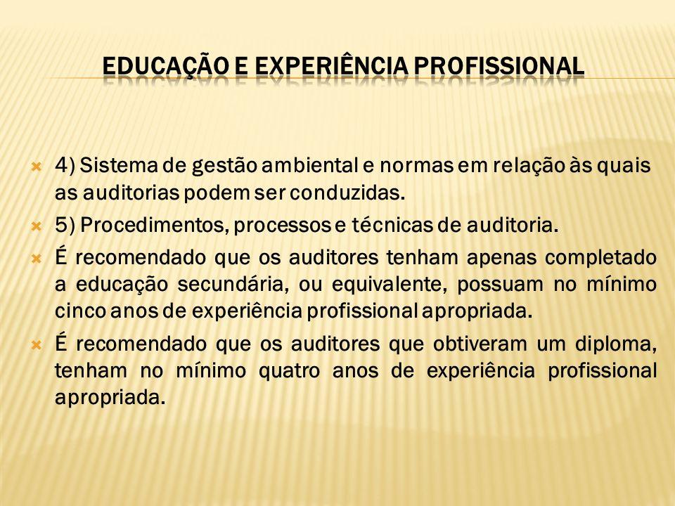 EDUCAÇÃO E EXPERIÊNCIA pROFISSIONAL