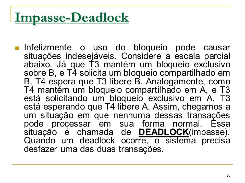 Impasse-Deadlock