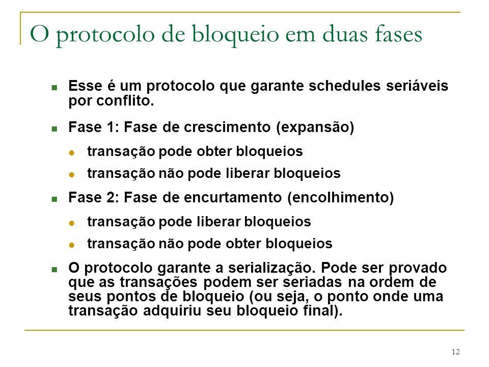 O protocolo de bloqueio em duas fases