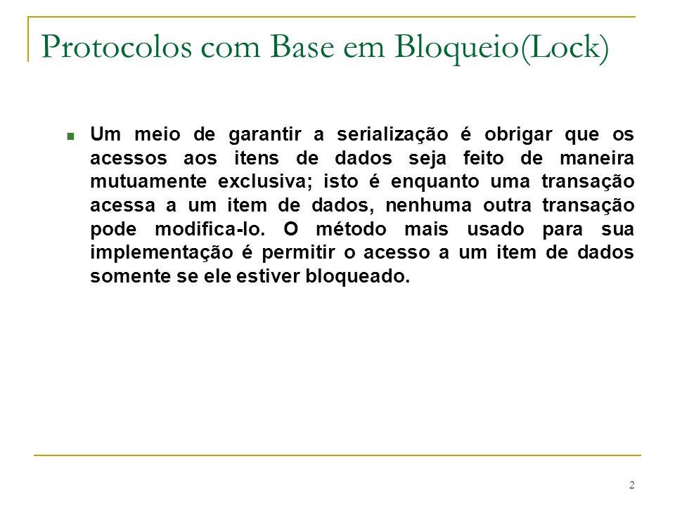 Protocolos com Base em Bloqueio(Lock)