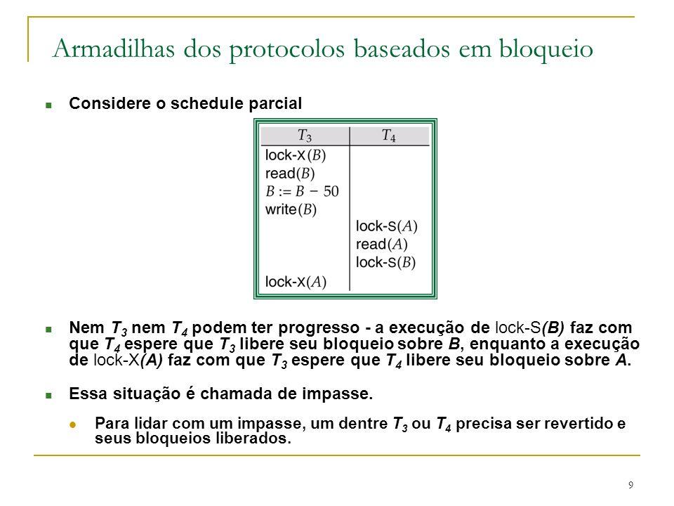 Armadilhas dos protocolos baseados em bloqueio