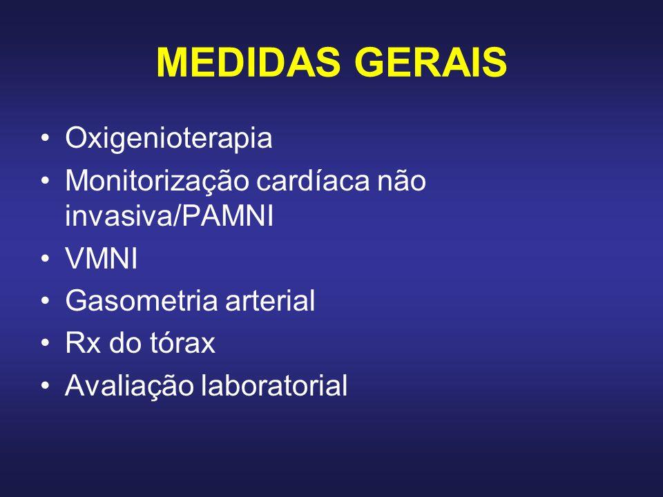 MEDIDAS GERAIS Oxigenioterapia