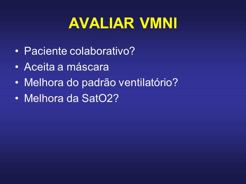 AVALIAR VMNI Paciente colaborativo Aceita a máscara